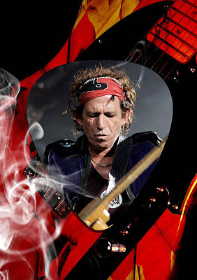 Musicians Mixed Media - Keith Richards Art by Marvin Blaine