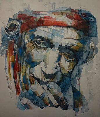 Rolling Stones Wall Art - Painting - Keith Richards Art by Paul Lovering