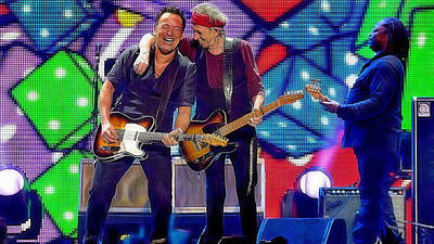 Bruce Springsteen Mixed Media - Keith Richards Bruce Springsteen by Marvin Blaine