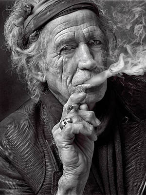 Keith Richards Art Print by Hans Wolfgang Muller Leg