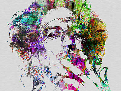 Rock Painting - Keith Richards by Naxart Studio