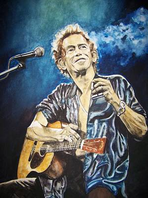 Painting - Keith Richards by Lance Gebhardt