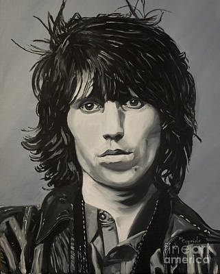Keef Painting - Keith Richards by Mary Capriole