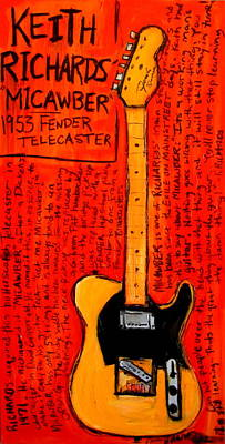 Guitar God Painting - Keith Richards' Micawber by Karl Haglund