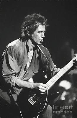 Keith Richards Wall Art - Painting - Keith Richards Painting by Concert Photos