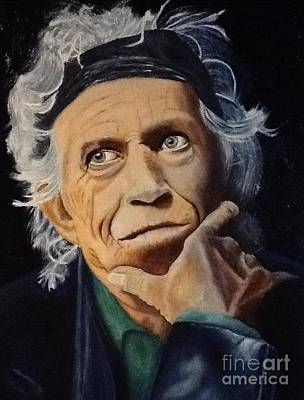 Painting - Keith Richards Portrait by Robert Monk