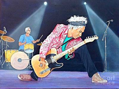 Painting - Keith Richards With Charlie Watts by Robert Monk