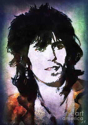 Painting - Keith Richards by Sergey Lukashin