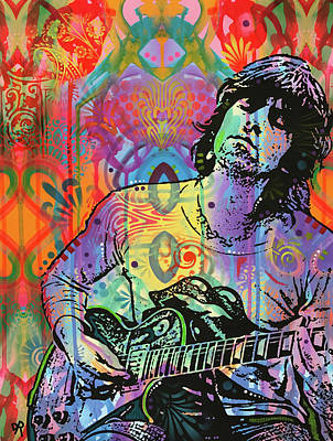 Rolling Stones Wall Art - Painting - Keith Richards Zone by Dean Russo Art