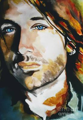 Painting - Keith Urban by Chrisann Ellis