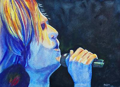 Art Print featuring the painting Keith Urban In Concert by Susan DeLain