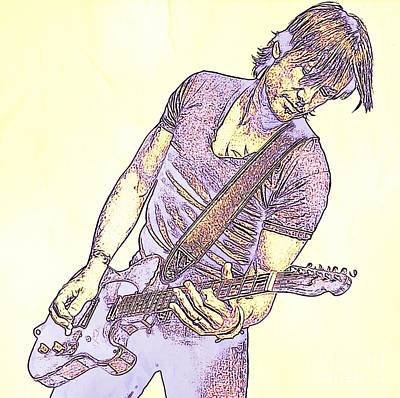 Tennessee Drawing - Keith Urban Sketch by JohnMalone