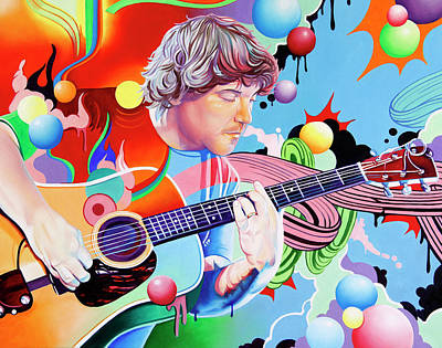 Painting - Keller Williams by Joshua Morton