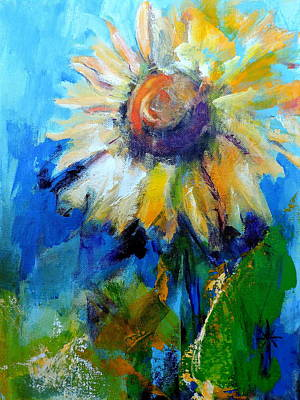 Painting - Kellie's Sunflower by Jodie Marie Anne Richardson Traugott          aka jm-ART