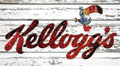 Kelloggs Fruit Loops Cereal Michigan Vintage License Plate Art Art Print by Design Turnpike