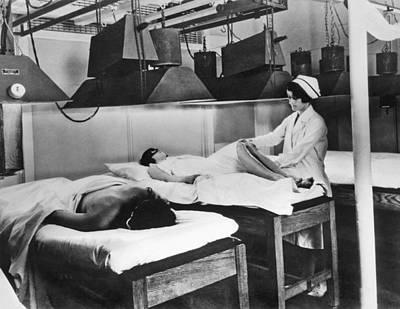Kellogg's Michigan Sanitarium Print by Underwood Archives