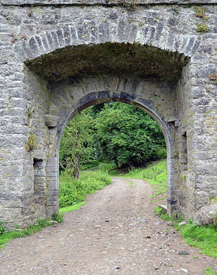 Irish Photograph - Kells Irish Priory Gatehouse And Dirt Road Path County Kilkenny Ireland by Shawn O'Brien