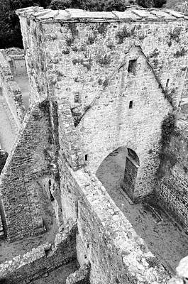 Photograph - Kells Irish Priory Medieval Ruins Arched Gateway Tower County Kilkenny Ireland Black And White by Shawn O'Brien
