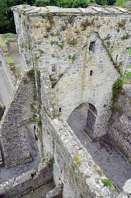 Photograph - Kells Irish Priory Medieval Ruins Arched Gateway Tower County Kilkenny Ireland by Shawn O'Brien