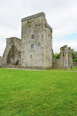 Photograph - Kells Irish Priory Restored Medieval Castle Tower House County Kilkenny Ireland by Shawn O'Brien