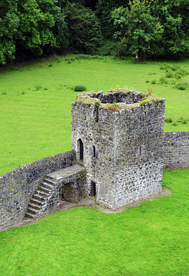 Photograph - Kells Priory Outer Wall Fortified Tower County Kilkenny Ireland by Shawn O'Brien