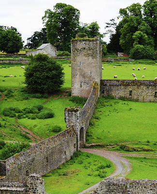 Photograph - Kells Priory Outer Wall Gatehouse And Fortified Tower County Kilkenny Ireland by Shawn O'Brien