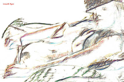 Boobs Painting - Kelly - Pa by Leonardo Digenio