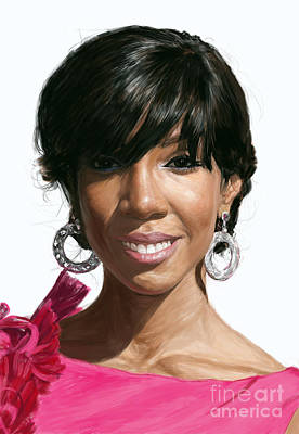 Kelly Rowland Art Print