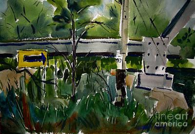 Kelly Street Rr Bridge Trailhead Framed Art Print