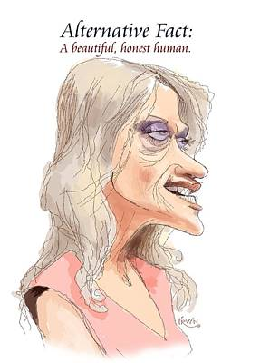 Republican Digital Art - Kellyanne Conjob by Trevor Irvin