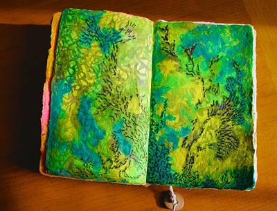 Mixed Media - Kelp Abstraction In My Artist's Journal by Polly Castor