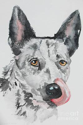 Painting - Kelpie Tongue by Susan Herber