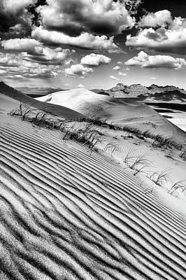 Photograph - Kelso Dunes Desert Portrait Black And White by Kyle Hanson