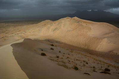Photograph - Kelso Dunes Storm by Kyle Hanson