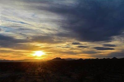 Photograph - Kelso Mountains Mojave Desert Sunset by Kyle Hanson