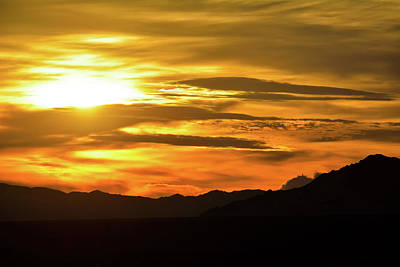 Photograph - Kelso Mountains Mojave Sunset by Kyle Hanson
