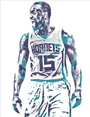 Kemba Walker Charlotte Hornets Pixel Art 21 Art Print
