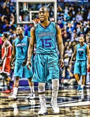 Kemba Walker Charlotte Hornets Player Art 2 Art Print