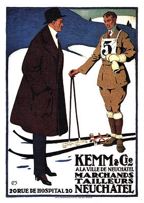 Mixed Media Royalty Free Images - Kemm and Cie - Tailors and Clothing Merchants - Vintage Advertising Poster Royalty-Free Image by Studio Grafiikka