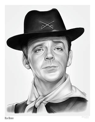 Drawing - Ken Berry by Greg Joens