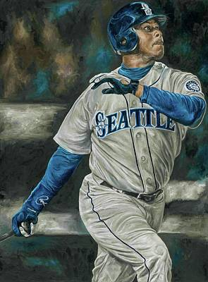 Ken Griffey Jr Art Print by David Courson