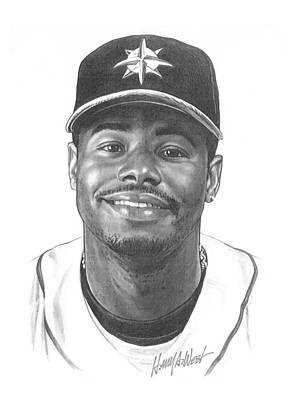Sears Tower Drawing - Ken Griffey Jr by Harry West