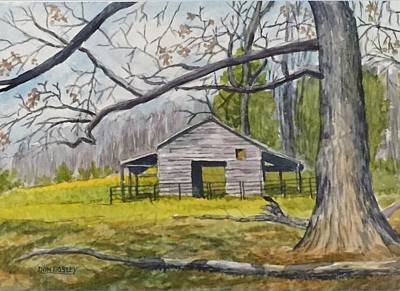Painting - Ken Jenkins Barn by Don Bosley