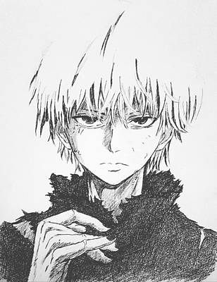 Drawing - Ken Kaneki  by Hae Kim