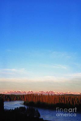 Land Of The Midnight Sun Photograph - Kenai River Chugach Mountains by Thomas R Fletcher