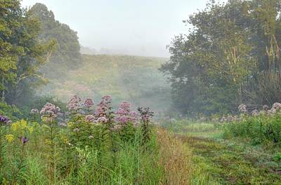 Photograph - Kendall Hills Fog by Ann Bridges