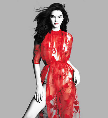 Mixed Media - Kendall Jenner Silky Smooth by Brian Reaves
