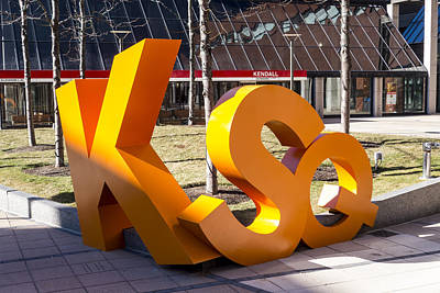 Photograph - Kendall Square Sign Cambridge Ma by Toby McGuire