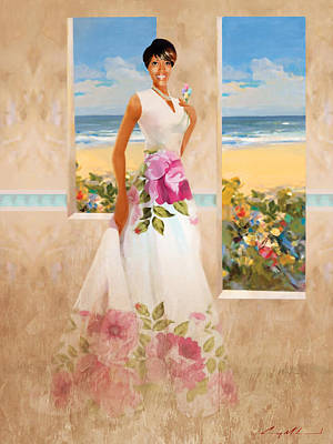 Painting - Kendra Lee's Daughter by Carey Muhammad