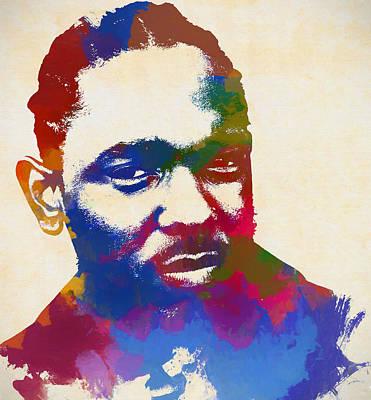 Rihanna Wall Art - Painting - Kendrick Lamar by Dan Sproul